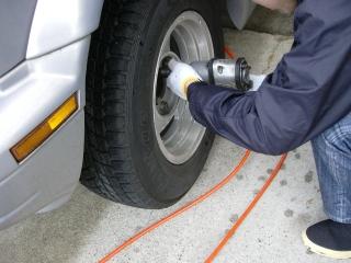 ポテチ タイヤ交換するの巻