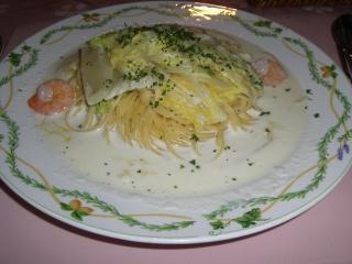 ラ・フーガ 白菜とえびのクリームソースパスタ