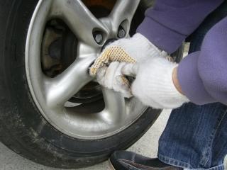 タイヤ交換2009