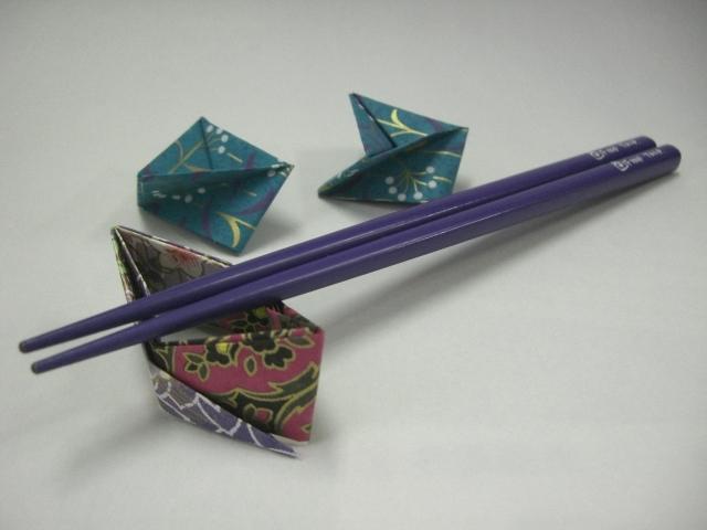ハート 折り紙:折り紙で箸置き-odango-2008.cocolog-nifty.com